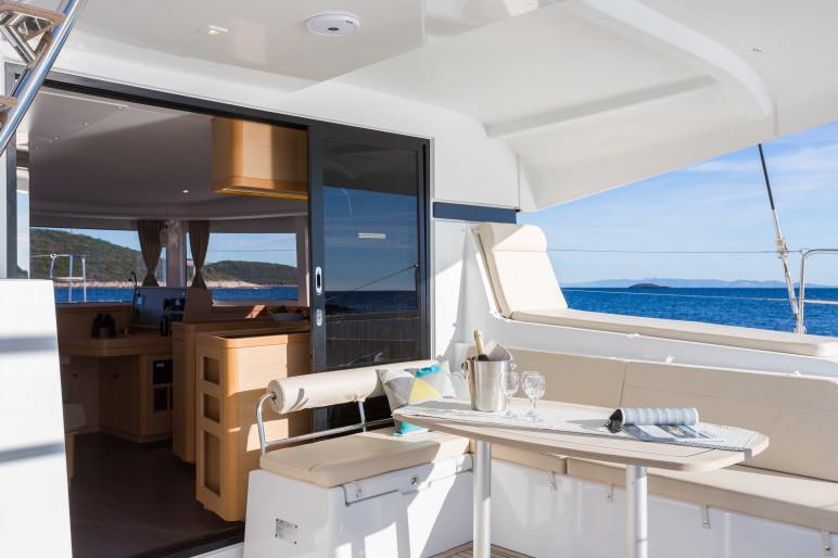 Lagoon 42 Luxury cockpit